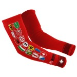 Red arm warmers