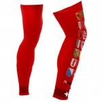 Red leg warmers