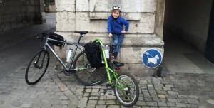 Sasa with bike