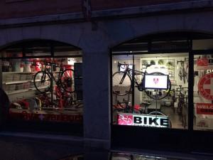 New bike switzerland shop window